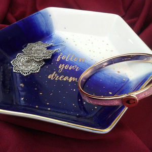 Follow your Dreams Jewelry Dish Trinket Tray